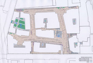 new street - site plan