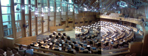 scottish parliament debating chamber photograph
