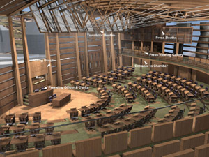 scottish parliament debating chamber view