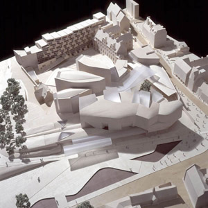 scottish parliament site model